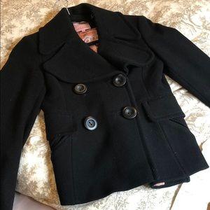 Ted Baker - SZ:0 - black wool coat/jacket